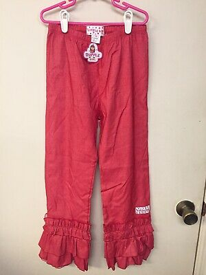 Ruffle Girl Boutique Cotton/Spandex Ruffled Leggings Red Size 10 NWT