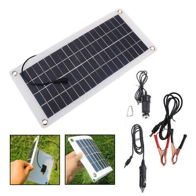 25W 12V Car Boat Yacht Solar Panel Trickle Battery Charger Outdoor Power UK
