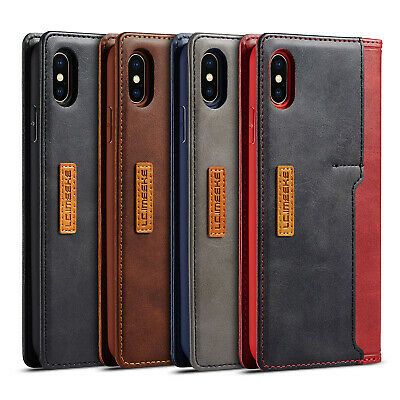 For iPhone XS Max XR 8 Plus 7 Magnetic Leather Case Flip Card Slot Wallet Cover