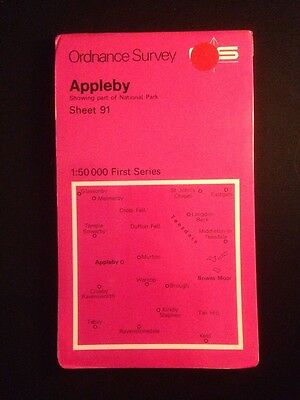 Appleby Ordnance Survey (OS) Map 1:50 000 First Series Sheet 91 Yorkshire Dales