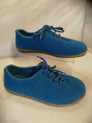 Ladies Cosyfeet Shoes Size 5 extra roomy Blue Purewool lace ups Comfort