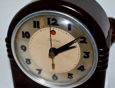 TELECHRON BAKELITE 3H73 DOMINO ELECTRIC CLOCK c1937