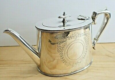 Antique Flavelle Edwardian Silver Plated Teapot - Plated - Vintage