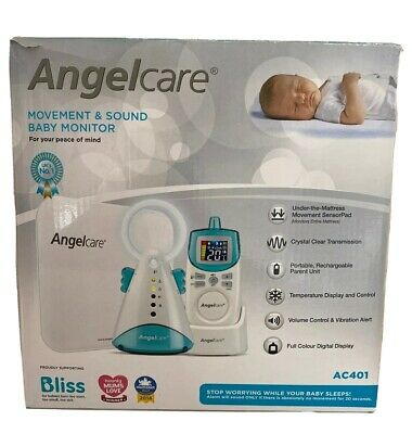 Angelcare AC401 Movement, Sound & Temperature Newborn Baby Monitor with Mat Set