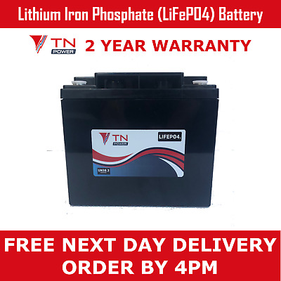 TN Power 12V 42Ah Lithium Leisure Battery for Golf & Mobility