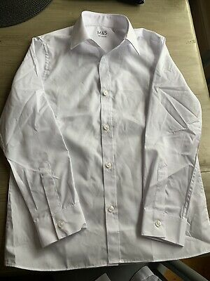 3 X Marks And Spencer White School Shirt