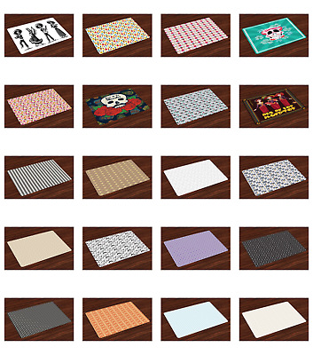 Ambesonne Place Mats Set of 4 Daily Use Placemats Dining and Kitchen Table