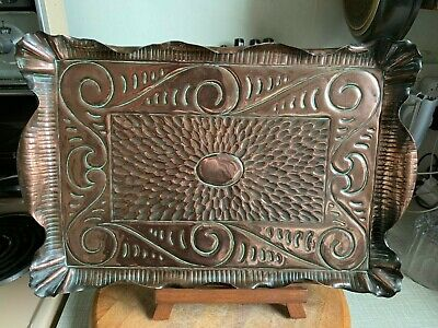 Antique Arts And Crafts Copper Tray