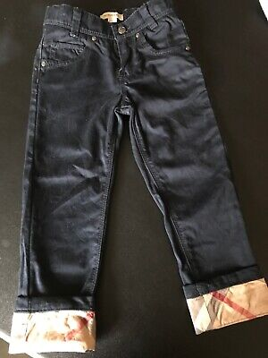 Boys Burberry Trousers Worn Once Age 4,also Have A T-shirt Listed