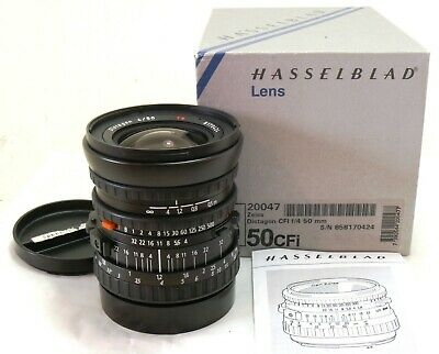 Hasselblad 50mm f/4 Zeiss Distagon CFi lens 20047 boxed MINT #36485