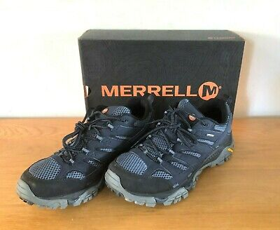 Merrell Mens Moab 2 GTX Walking Shoes Navy Blue Outdoors Trainers - UK Size 10