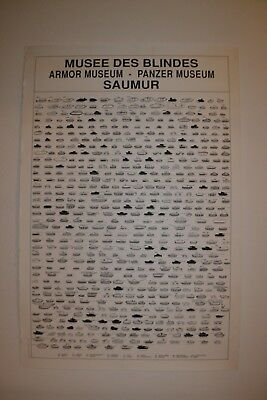 Authentique  Grande Affiche Musee Des Blindes  Saumur France 117X78 Cm