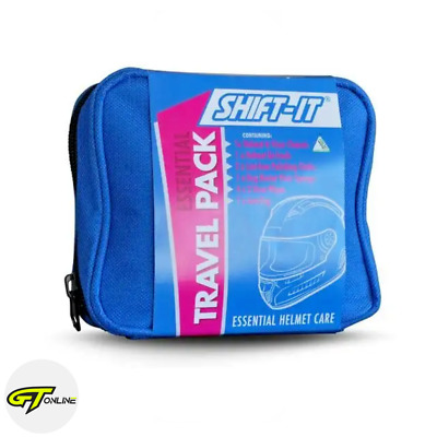 Shift It Essential Motorcycle Helmet Care Travel Touring Kit Pack Pouch 2830127