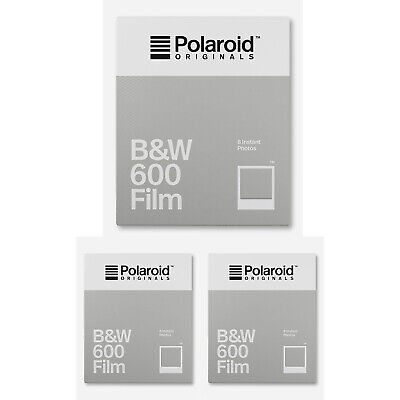 Polaroid Originals B&W 600 Instant Camera Film (8 Exposures/Pack of 3)