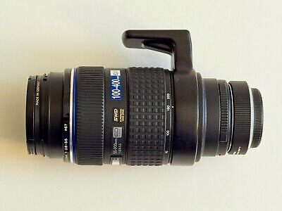 Olympus Zuiko 50-200mm f/2.8-3. SWD ED Lens four-third mount with MMF adapter