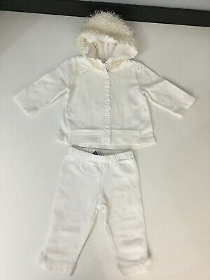 Special Day Baby Girls Set Outfit Tracksuit Cream Age 6 Months Jacket Bottoms