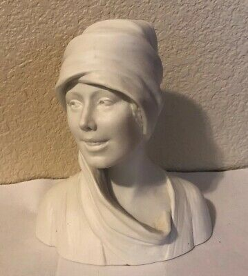 Antiguo Vintage L. Savine Theodore Haviland Limoges France Porcelana Busto Woman