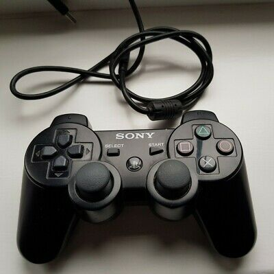 Official Sony Ps3 Sixaxis Dualshock Wireless Black Controller / Pad -Uk Stock