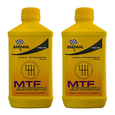 2Lt Aceite Coche Bardahl Bardhal Mtf 75W80 GL4 Transmisiones Manuales