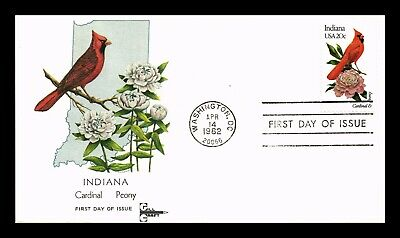 Dr Jim Stamps Us Indiana State Bird Flower First Day Cover Gill Craft