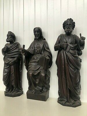 SALE !!! Stunning Gothic Revival Carved Christ  Statue/Sculpture in wood nr3