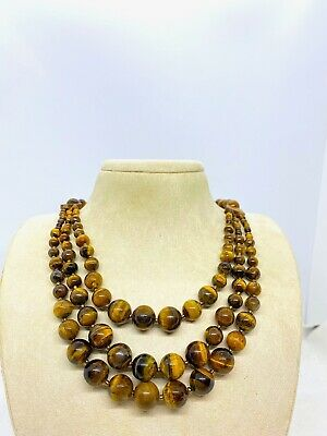 Vintage Tigers Eye Beaded Necklace