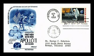 Dr Jim Stamps Us Apollo 11 Man On Moon Air Mail First Day Cover Scott C76