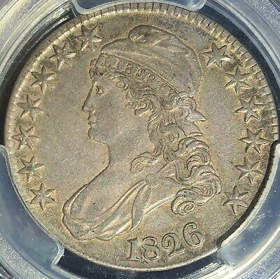 1826 O.118a Capped Bust half, PCGS AU50 - nice natural toning