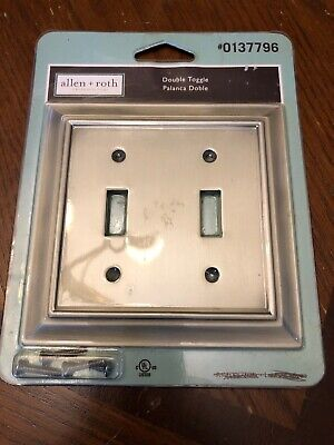 Allen + Roth Double Switch Toggle Antique Brass Wall Plate #0137796