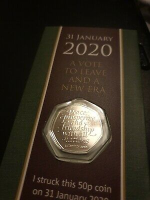 Dated 31st Jan Strike Your Own Brexit SYO Brexit 50P Coin Pack