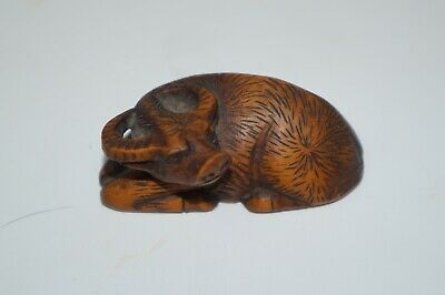 Antique Wooden Hand Carved Netsuke (Signed)