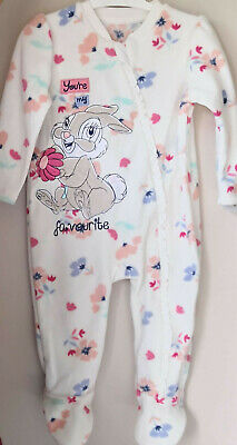 Disney Baby Girls Bambi Thumper Floral Fleece Sleepsuit 9-12 Months BNWT