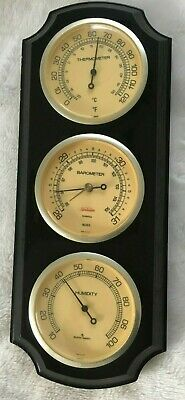 Vintage SUNBEAM Weather Station Barometer, Thermometer, Humidity. USA MCM Modern