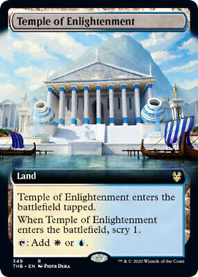 x1 Temple of Enlightenment - Extended Art MTG Theros Beyond Death R M/NM, Englis