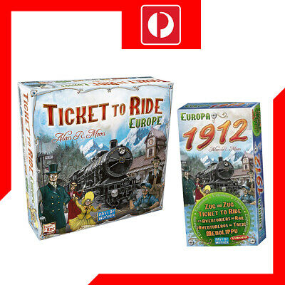 Ticket to ride Europe Edition + 1912 Europa expansion Board Game