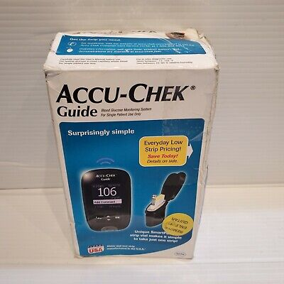 Accu Chek Guide Meter kit. glucometer  no-spill SmartPack NO STRIPS