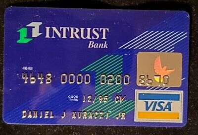Intrust Bank Visa credit card exp 1995♡free shipping♡cc1087♡