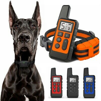 800M Electric Dog Shock Collar Waterproof Rechargeable Pet Training for 1/2 Dogs