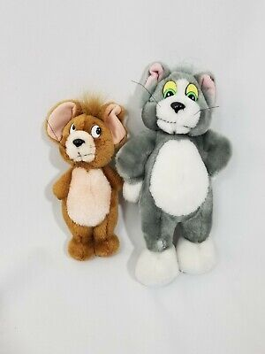Vintage Applause Tom and Jerry Plushies Plush Stuffed Animals Lot Set 1992