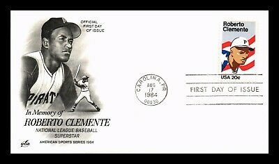 Dr Jim Stamps Us Roberto Clemente Baseball Superstar First Day Cover Art Craft