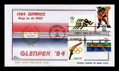 Dr Jim Stamps Us Glenpex Olympics Combo First Day Rainbow Cover