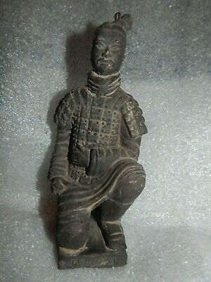 Chinese Terra Cotta Warrior Statue stamped signature in Chinese Characters