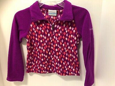 Columbia Girl Pink Purple Glacial Fleece Half Zip Pullover Jacket XXS/4-5 B9