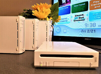 Nintendo Wii Console System Only white Color & Model RVL-001 TESTED WORKS