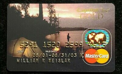 Capital One Gold MasterCard credit card exp 2003♡free ship♡cc1097♡ Camping