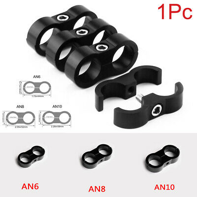 1Pc AN6/AN8/AN10 Hose Separator Clamp Fitting Gas/Oil/Fuel Line Hose End Fitting