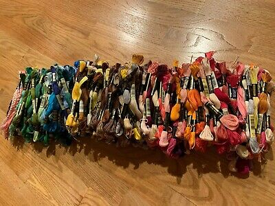 Mixed Lot Of DMC Cotton Embroidery Floss For Counted Cross Stitch 500 skeins