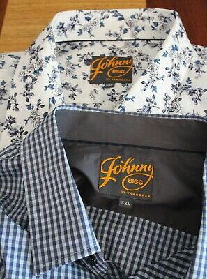 TWO Johnny Bigg Mens Size 5XL Mens Long Sleeved Blue Check & Blue Floral