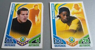2 x Brazil Players - Topps Match Attax Trading Cards World Cup 2010