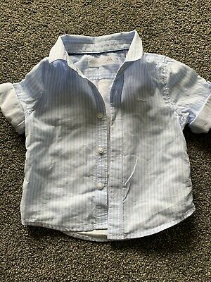 Zara Boys Shirt - Light Blue Stripe 3-6months